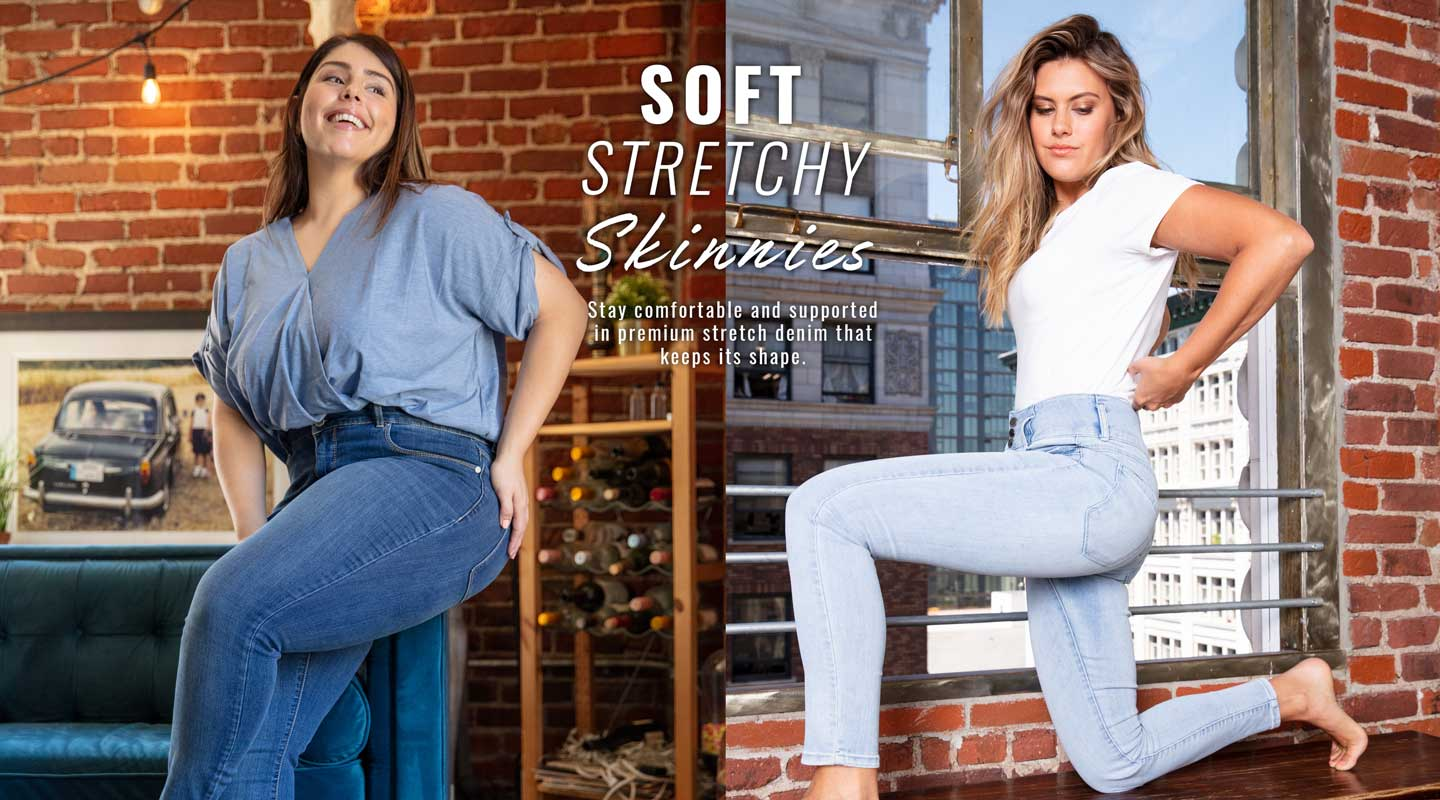 Total Comfort.Look great, feel great in leggings and pull-ons.