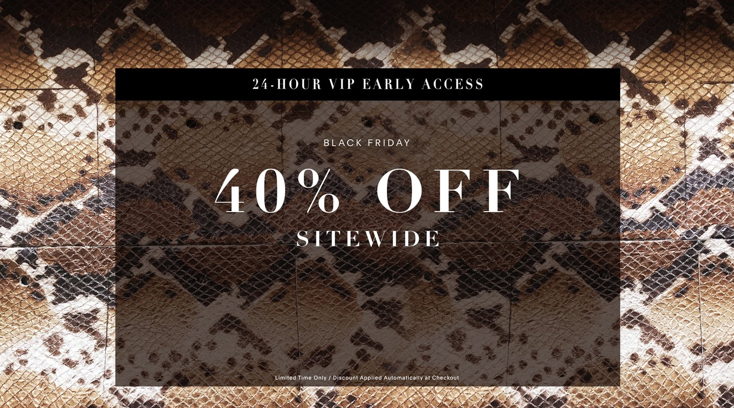 Black Friday: 40% Off Sitewide