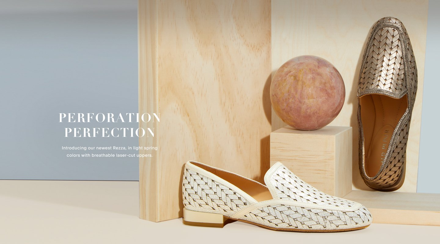 Perforation Perfection. Introducing our newest Rezza, in light spring colors with breathable laser-cut uppers.
